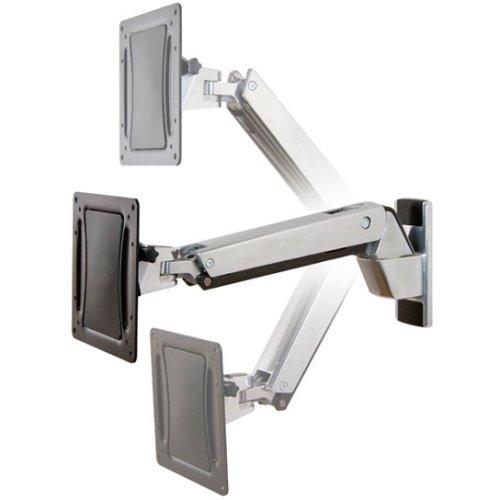 Ergotron Interactive Arm HD - Wandhalterung für LCD-Display - Aluminium - Polished Aluminum - Bildschirmgröße: bis zu 139,7 cm (bis zu 55 Zoll) - Montageschnittstelle: 200 x 100 mm