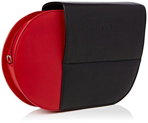 Madame Folie Donna Courbé Borsa a spalla Red / Black