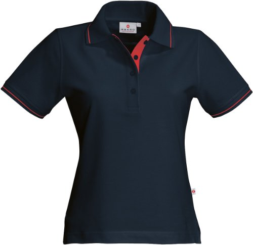 HAKRO Damen Polo-Shirt Casual - 203 - tinte/rot - Größe: M