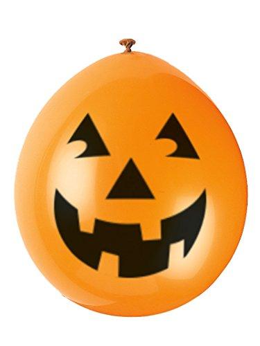 Generique - 10 Palloncini Zucca Sorridente Halloween 994717059ec0