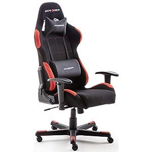 DX Racer 62501SR4 –  Silla gaming, plástico, reposabrazos, con ruedas, altura ajustable, Negro/Rojo, 78 x 52 x 124-134 cm