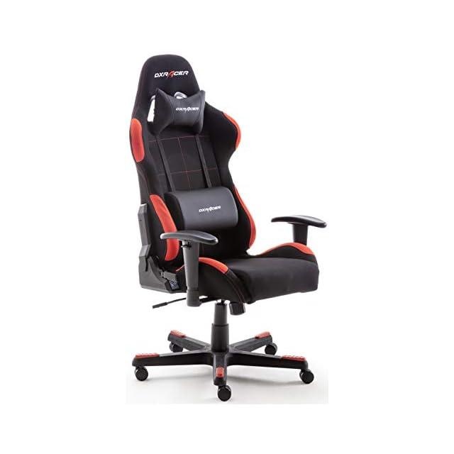 Robas Lund 62501SR4 DX Racer Fauteuil Gamer De Bureau PU Noir Rouge 52