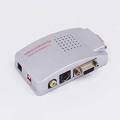 Preisvergleich Produktbild VGA To AV Converter PC VGA zu TV Composite Video RGB Converter / TV AV RCA S-Video-Adapter