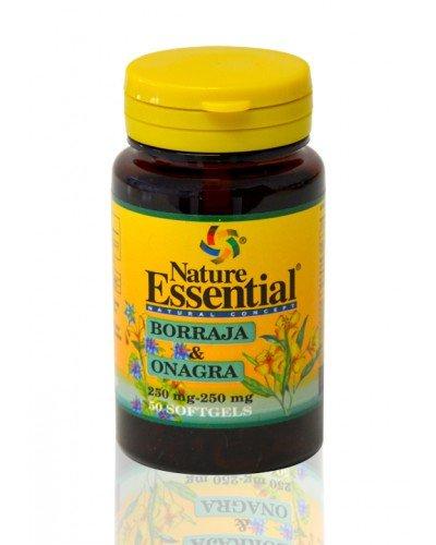 Huile de Bourrache et d'Onagre - 500 mg. 50 Perles - Anti Vieillissement -
