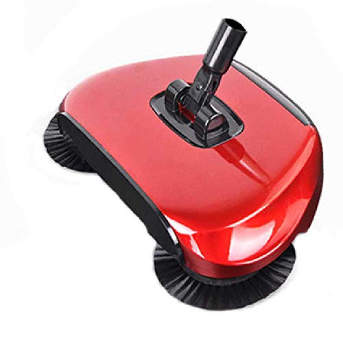 DUNDUNGUOJI DUNDUNGUOJI Sweeping Machines Edelstahl Sweeting Machine Push Art Magic Broom Dustpan Handle Haushalt Vakuum Reiniger Hand Push Sweeper Floor Robotic 31 * 19.7 * 6CM/Rot (Broom Vakuum)
