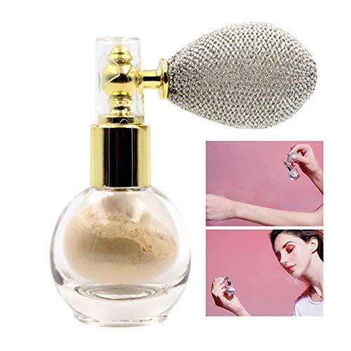 Hamkaw Body Spray Glitter Powder, Hautfreundliches Shimmer Cream Powder, Highlighting Powder (Spray Glitter Und Haar Body)