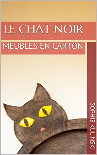 Couverture du livre LE CHAT NOIR: MEUBLES EN CARTON