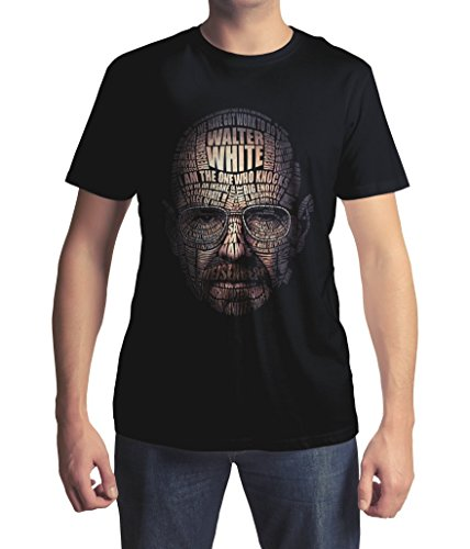 Walter White Heisenberg Quote Face t-Shirt (3XL, Schwarz)