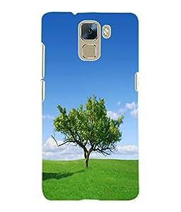 Fuson 3D Printed Tree Designer Back Case Cover for Huawei Honor 7 - D1078
