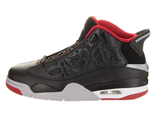 Jordan Dub Zero Cuir Baskets Black-Gym Red-Wolf Grey-White