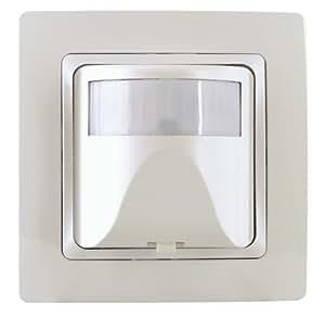 Détecteur de mouvements encastré infracontrol 180° crème Kopp