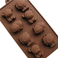 surreywhytel 8-Tray Animal Ice Cube silicone Chocolate Dinosaur Mold - 8 Cube