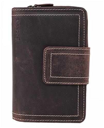 Lozano XL Geldbörse / Organizer / Reisebrieftasche aus naturgegerbtem geöltem Büffel Leder Vintage - Look 30007