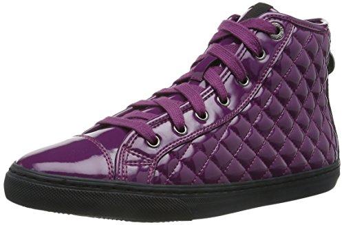 Geox D New Club D, Baskets mode femme Violet (Dk Purple)