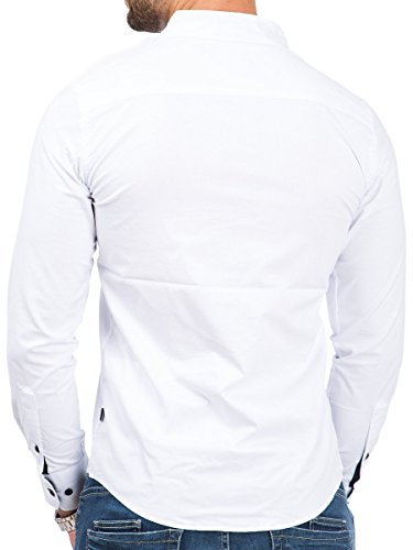 Carisma Herren Hemd Slim Fit Langarm Freizeit Business Shirt Weiß