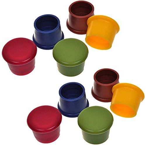 Packung Mit 10 Verschiedenen Farben Silikon Wiederverwendbare Weinflasche Caps / Beer Sealer Cover