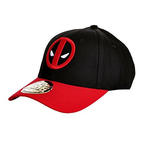 Deadpool Logo Baseball-Cap schwarz/rot