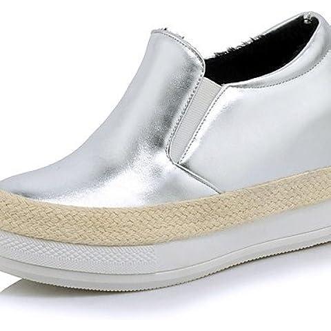 Mocasines de mujeres & Slip-Ons Primavera / Otoño cuñas / Plataforma / Round Toe Flats / Exteriores / / vestimenta casual tacón cuña,Negro,US5 / UE35 / UK3 /