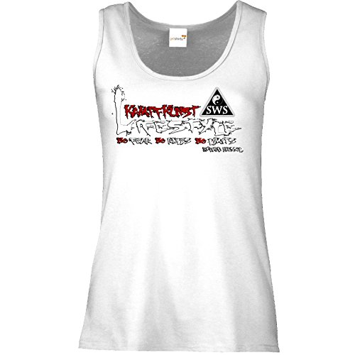 getshirts - Kampfkunst Lifestyle Shop - Tank Top Damen - Kampfkunst Lifestyle - Logo 2 Weiß
