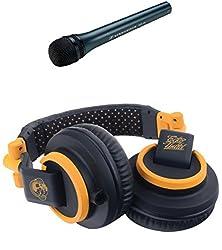 Sennheiser MD 46 Cardioid Interview Microphone + Ecko EKU-STD-BK Studio Sound Over Ear Headphones (Orange and Black)