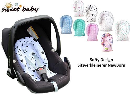Sweet baby ** softy design ** cuscino/riduttore universale per testa ** per seggiolino 0+ ** traspirante e lavabile ** (stars rose)