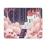 Tappetino per mouse da gioco, Tappetino per mouse Padiglione rosa e Mouse pad per castello divertenti