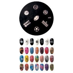 Konad Stamping Nail Art Plaque D'images M52