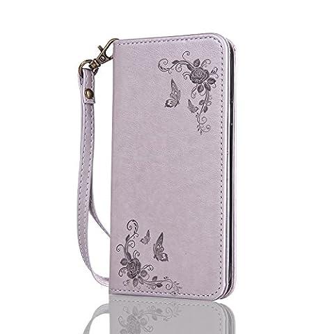 Lonchee Samsung Galaxy S3 Neo GT-I9301 GT-i9300 Wallet Tasche Brieftasche Schutzhülle , geprägten Design Hochwertige PU Leder Folio Tasche Case Hülle im Bookstyle mit Standfunktion Kredit Kartenfächer
