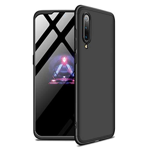 Funda Xiaomi Mi 9 SE 360°Caja Caso + Vidrio Templado Laixin 3 in 1 Carcasa Todo Incluido Anti-Scratch Protectora de teléfono Case Cover para Xiaomi Mi 9 SE (Negro)