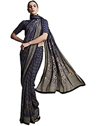 Women's Georgette Without Blouse Piece Saree