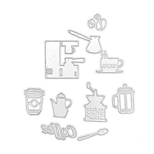 FNKDOR Stanzschablone Scrapbooking Papierbasteln Schablonen Embossing Machine Schneiden Stanzformen, Zubehör für Sizzix Big Shot und andere Stanzmaschine (C) (Buchstaben C Danke-karten)