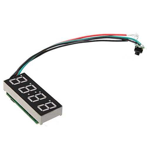 Preisvergleich Produktbild Digitaluhr - SODIAL(R)LED-Digital-Uhr fuer 24 Stunden Auto Moto Einstellbare 7-30V DC Weiss