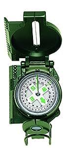 Herbertz Boussole modèle ranger boîtier métal Gris/Vert