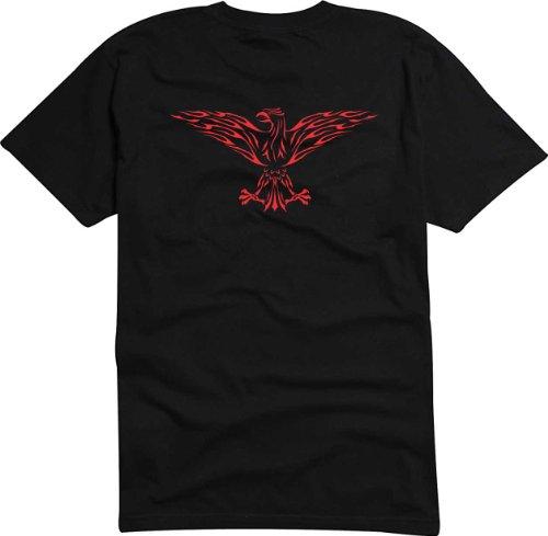 T-Shirt Herren Tribal-Adler Schnitzen Schwarz