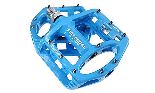 UPANBIKE Pedale aus Magnesiumlegierung, 9/16 Zoll Spindellager, hochfest, Rutschfest, große Flache Plattform für Mountainbikes, Rennrad, blau