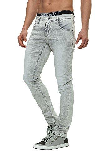 Antony Morato Herren Skinny Jeans Slim Fit Denim Grau (9015)