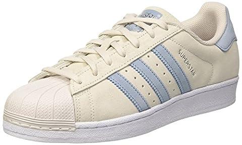 adidas Superstar, Baskets Basses Homme, Gris (Pearl Grey/Tactile Blue/Tactile Blue), 46 EU