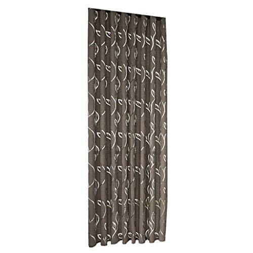 Xmiral Türvorhang Blätter Gedruckte Ösen Thermo Vorhang Verdunklungsvorhang Gardine(Kaffee,100x200 cm)