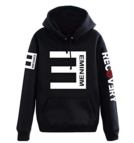 Tiny Time Unisex Hip Hop Sweater Hoodie Kapuzenpullover Cosplay Kostüm US Size (L, Schwarz) (Hip Hoodies Hop)