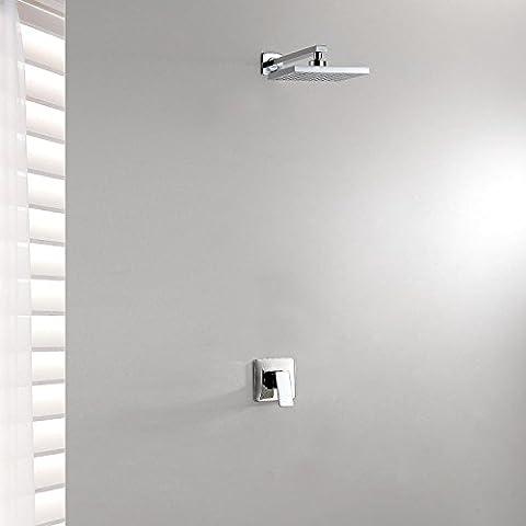 Einzel-Chrom Verdeckte Dusche Wasserhahn 8 inch Top