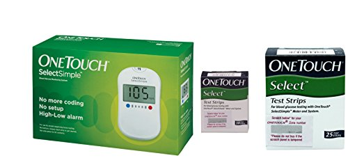 OneTouch Select Simple Glucometer with 35 Free Tests Strips - (Combo Pack)