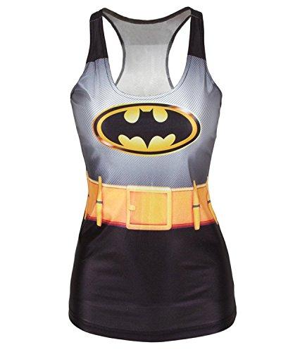 Canotta da donna con simbolo di Batman, taglia 40, 42, 44