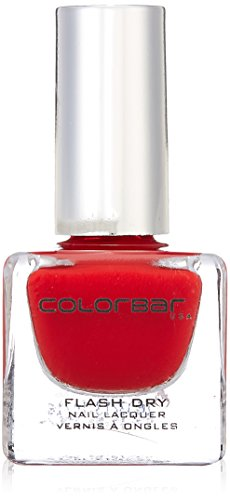 Colorbar CFD218 Flash Dry Nail Lacquer, Red, 12ml