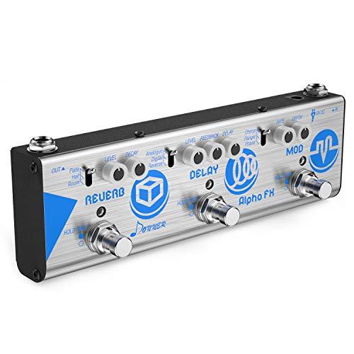 Donner Mini Alpha FX Gitarre Effektpedal Modulation Delay Reverb Effektpedal