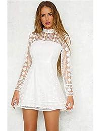 322ea0b9eaa8 Amazon.it  Collo Alla Coreana - Bianco   Vestiti   Donna  Abbigliamento