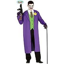 Disfraz Payaso Asesino - M (ES 48/50)   Disfraz Malvado Joker   Outfit Arlequín Terrorífico   Traje Halloween Psicópata