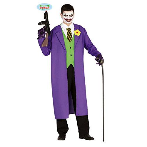 Imagen de disfraz payaso asesino  m es 48/50 | disfraz malvado joker | outfit arlequín terrorífico | traje halloween psicópata