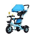 Multifuncional Triciclo para niños para 1-3-6 años de Edad (niño/niña) Bicicleta bebé Plegable 3 en 1 Bicicleta Infantil de 3 Ruedas Cochecitos para niños del niño Triciclo Toldo