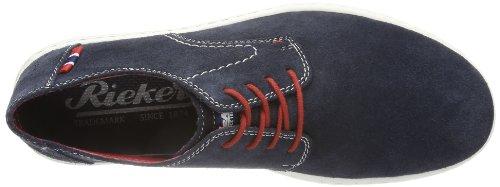 Uomini Schnürer 14 Chaussures Bleu pacific Cuir Rieker Blu r5qOwrRf