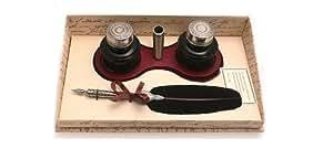 Coles Kit calligraphie plume + flacons d'encre + repose-plume